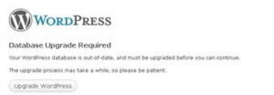 """No Update Required - Your WordPress database is already up-to-date!"" error message"