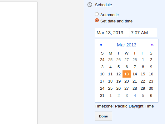 schedule post on blogger