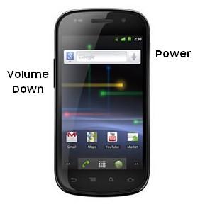 Make screenshot with Nexus mobile