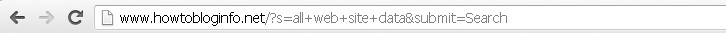 On side search with Google Analytics