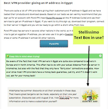 Text box on all pages in a WordPress blog