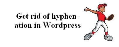 hyphenation in WordPress