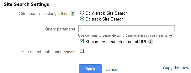 track site search with Google Analytics
