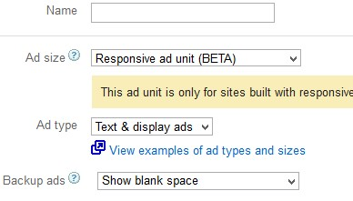 Responsive Ad Unit with Google