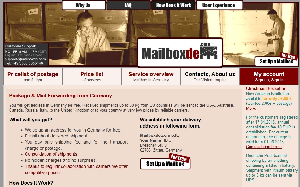 Mailboxde review