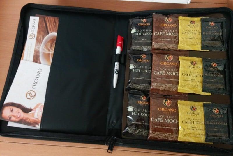 Organo Gold distributor kit tests and samples
