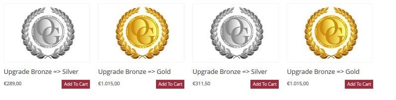 Upgrade Organo Gold from Bronze