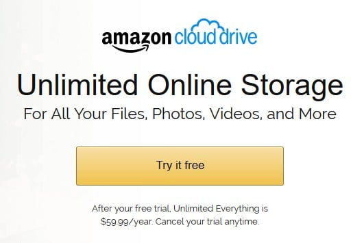 Cheap unlimited cloud storage