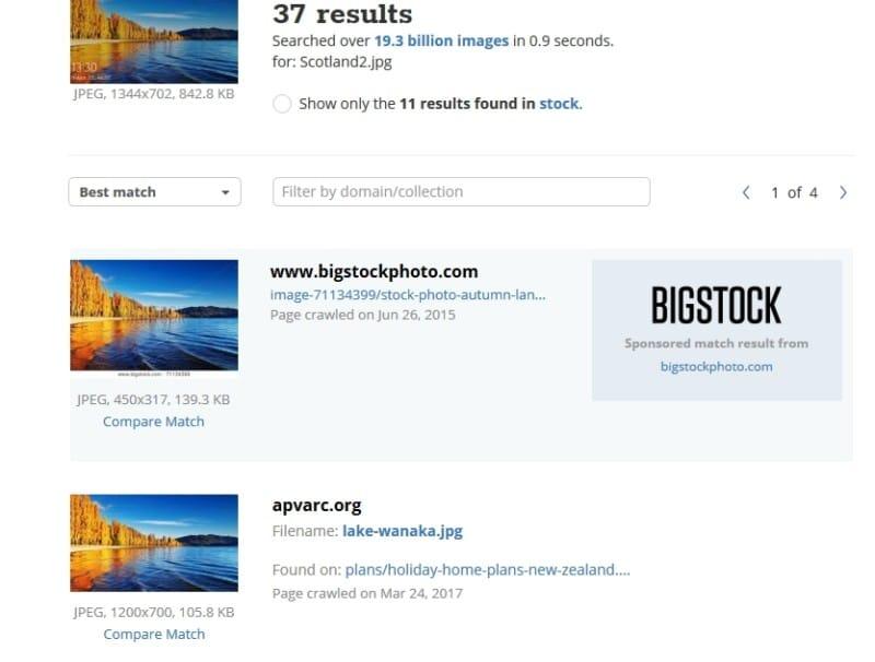 tineye image recognition windows startup screen