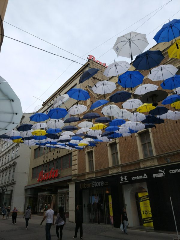 Cool umbrellas in Brno