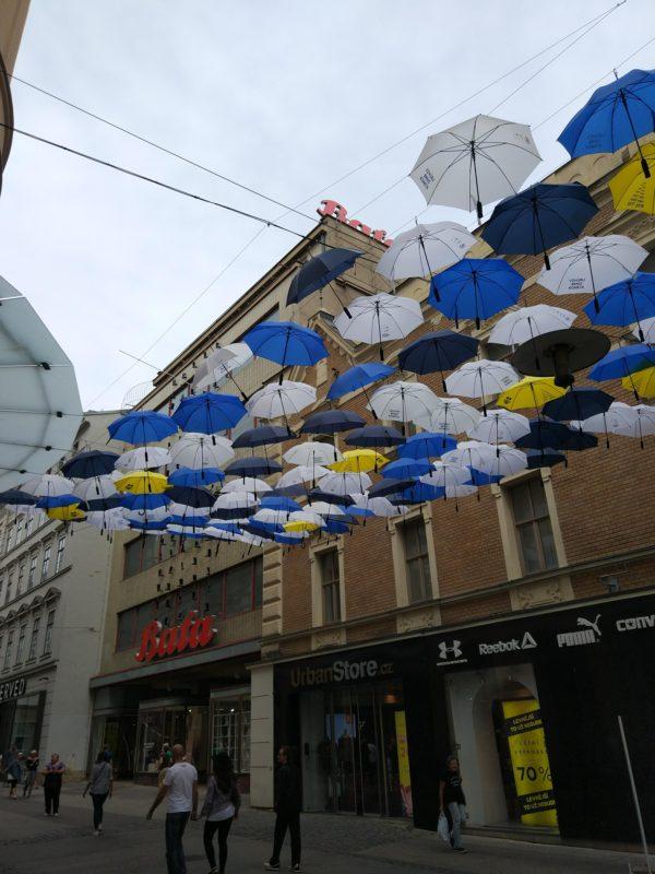 Cool umbrellas in Brno