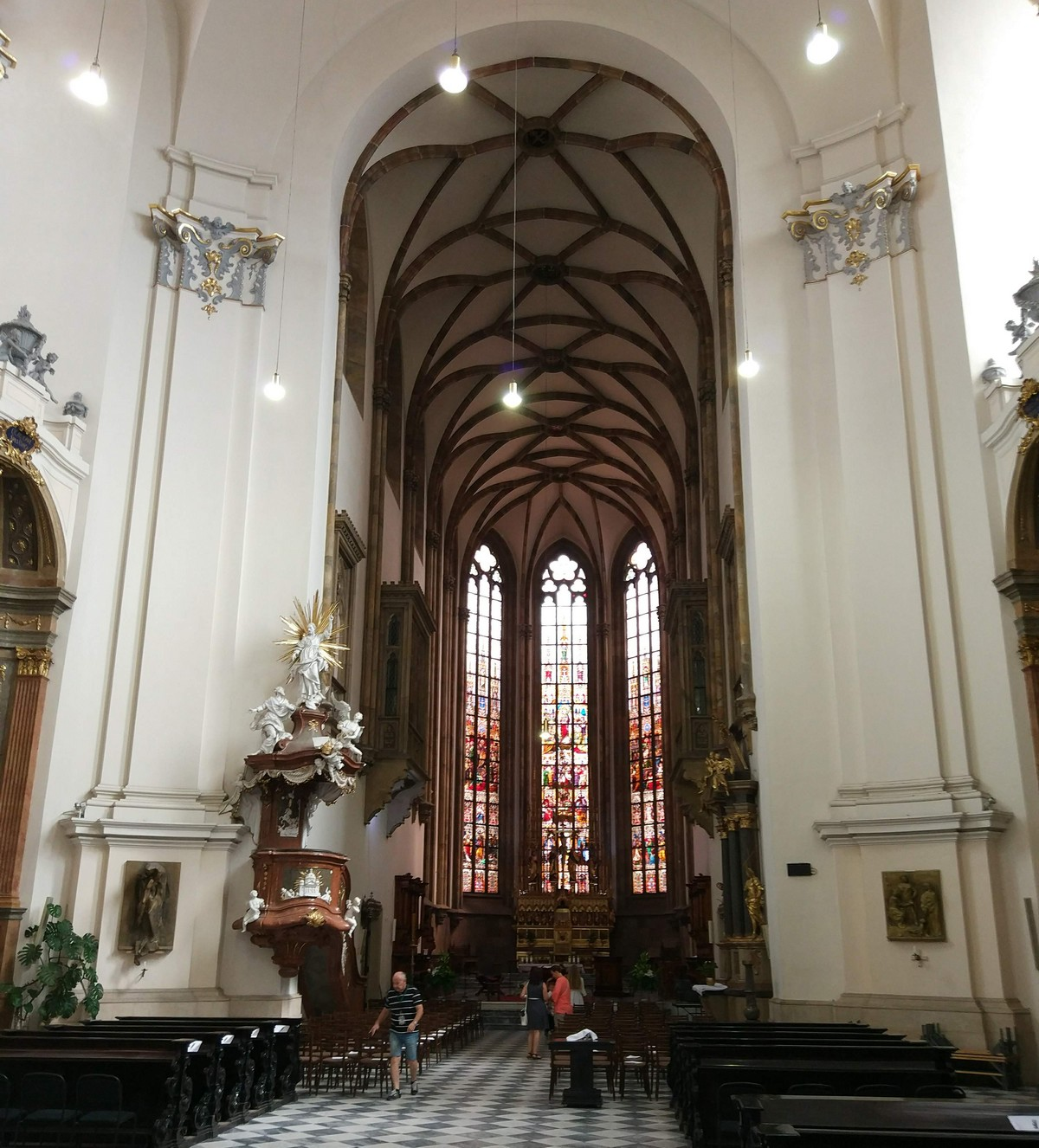 The interior of the Cathedral of St Peter and Paul in Brno