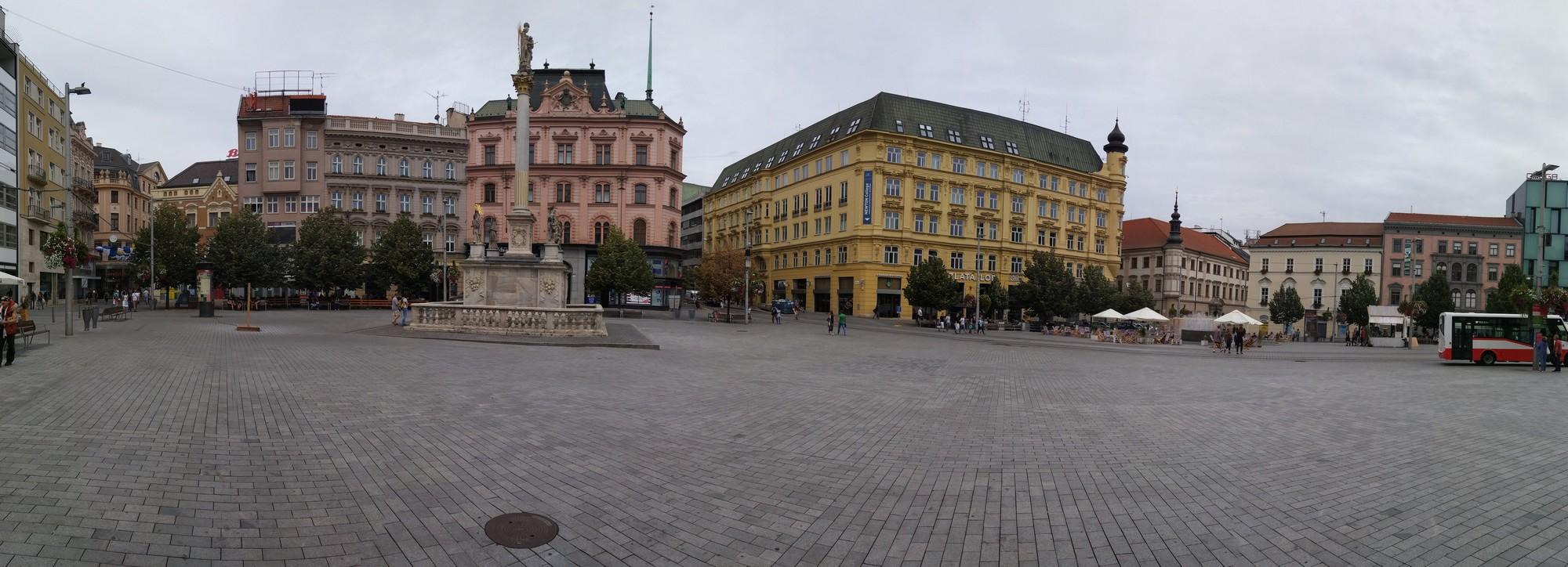 The Freedom square in Brno
