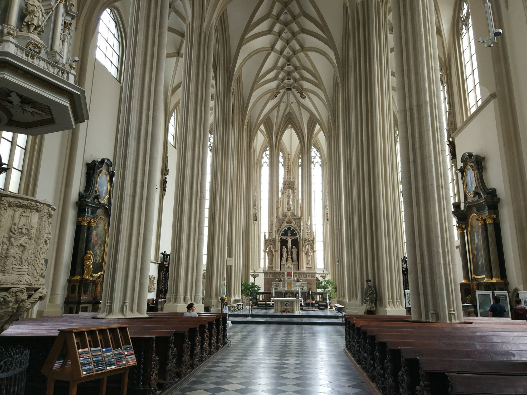 The interior of the Church of St. James in Brno