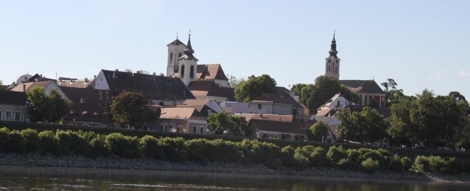 The city of Szentendre, seen from the Danube
