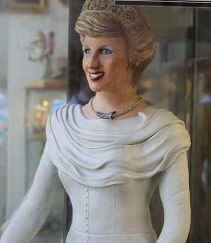 Princess Diana made of marzipan