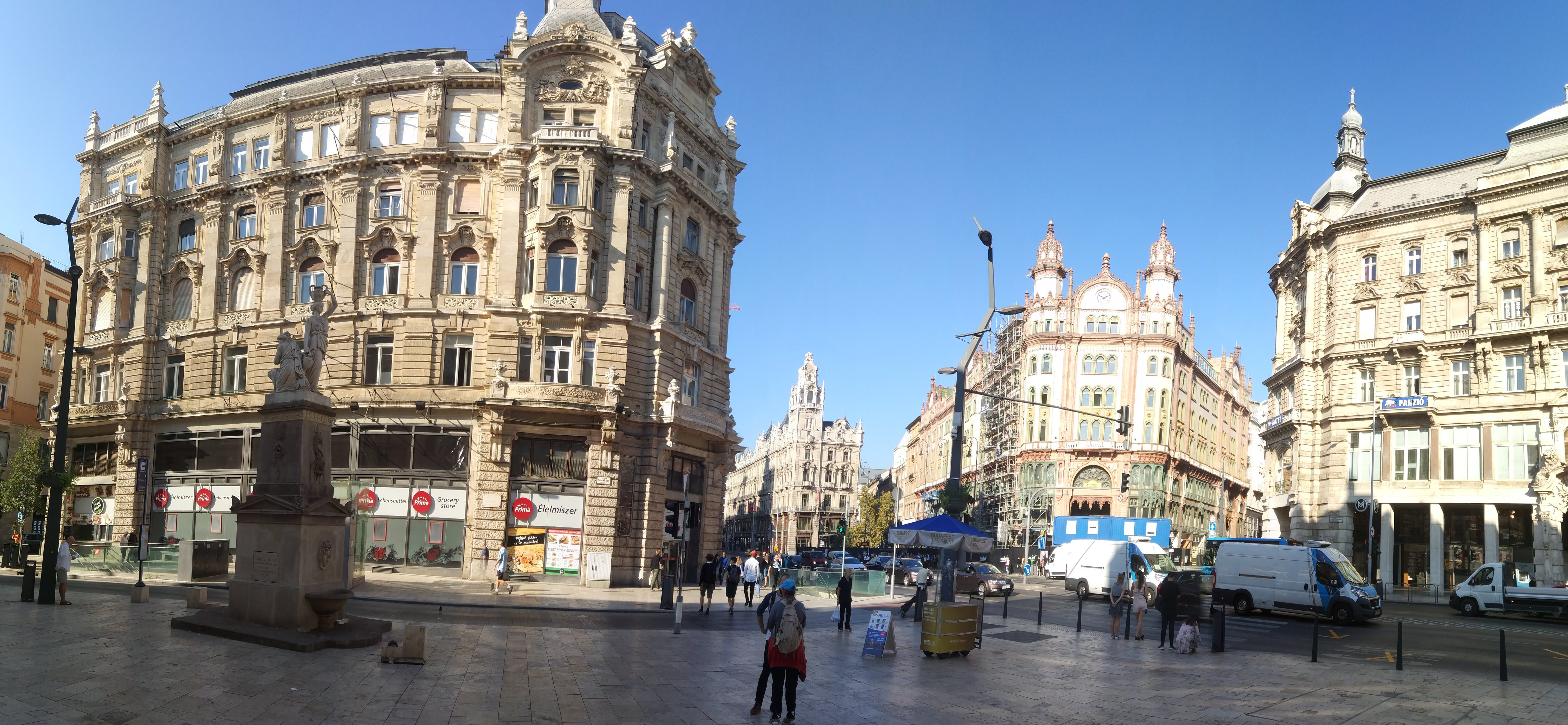The Ferenciek square in Budapest