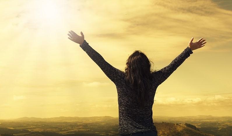 prayer, lifted hands