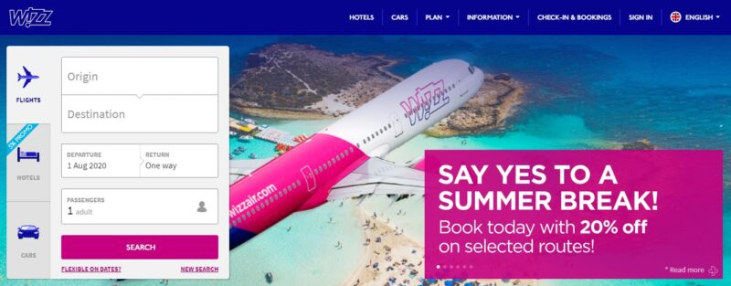 wizzair administration fee